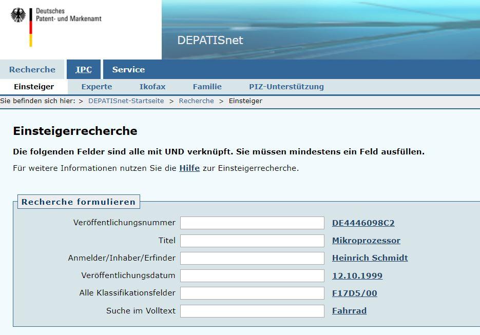 Gebrauchsmuster recherche online dating